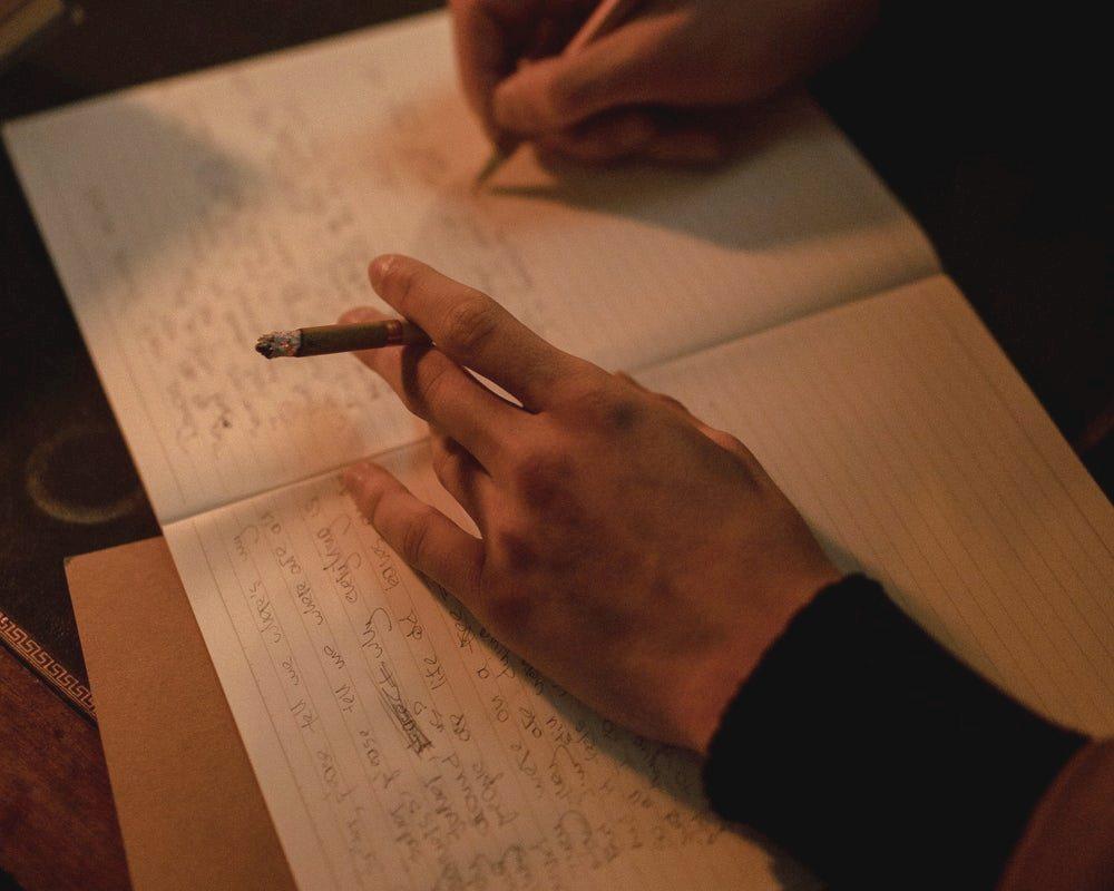 писање-цигарета
