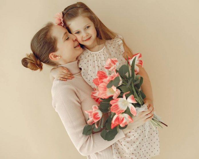мајка-ћерка-цвеће